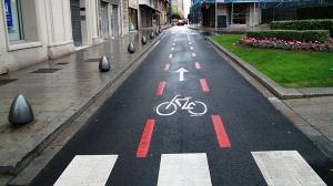 Carril bici d'un carrer de Reus