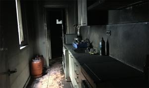 Imatge de la cuina cremada