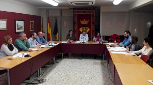 Imatge del ple celebrat a l'Ajuntament de Vandellòs i l'Hospitalet de l'Infant