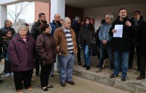 Una trentena de reusencs s'han manifestat a Mas Pellicer
