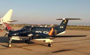 Avió de la policia espanyola a Reus, aquesta tarda.