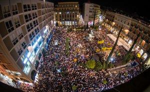 Imatge de la plaça del Prim plena.