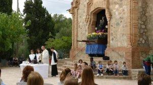 Imatge d'un moment de la missa.