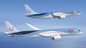 Imatge d'arxiu de dos avions de la companyia TUI.