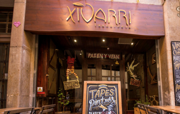 Imatge de l'exterior del Xivarri Tasca, al carrer Pubill Oriol de Reus.