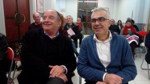 Josep Abelló i Andreu Martín durant l'assemblea d'avui