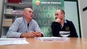 Imatge de la roda de premsa d'Unió de Pagesos
