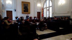 El plenari municipal durant la sessió d'aquest dilluns