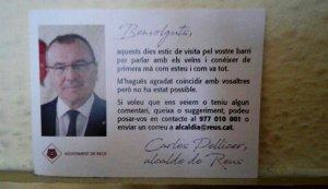 L'alcalde Carles Pellicer realitza visites porta a porta pels barris de la ciutat
