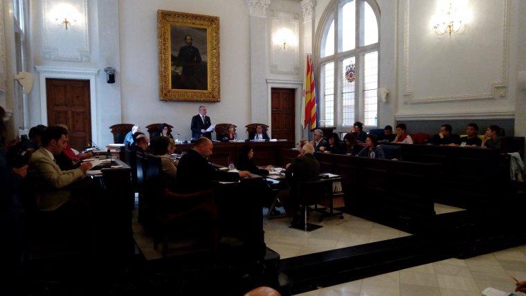 El plenari municipal en una imatge d'arxiu