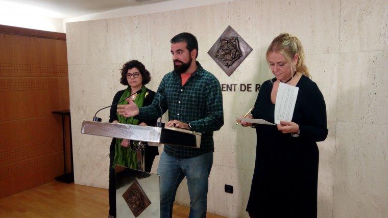 Imatge de la roda de premsa de presentació del projecte d'inclusió a la Festa Major de Reus