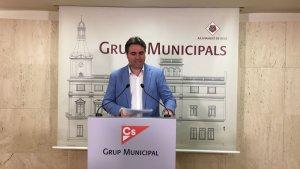 El portaveu de Cs, Juan Carlos Sánchez, aquest dilluns.