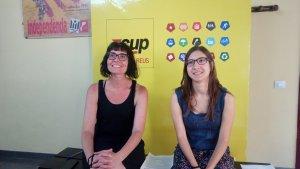 Marta Llorens i Marta Puig durant la roda de premsa