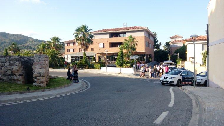 Imatge de l'hotel La Selva durant la tarda d'avui divendres, 6 de juliol