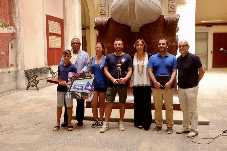 Imatge dels guanyadors del 28è Concurs Internacional de Focs Artificials