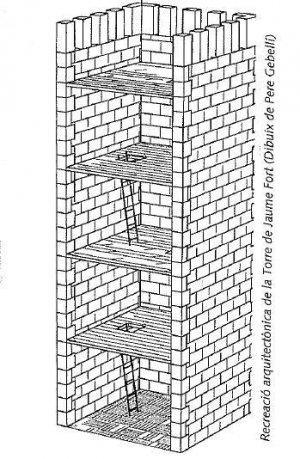 Recreació arquitectònica de la Torre de Jaume Fort