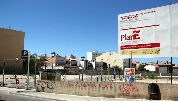 L'aparcament FIladors, fet per Teyco a Torredembarra.