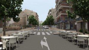 Imatge del futur estat del carrer de Pere Badia