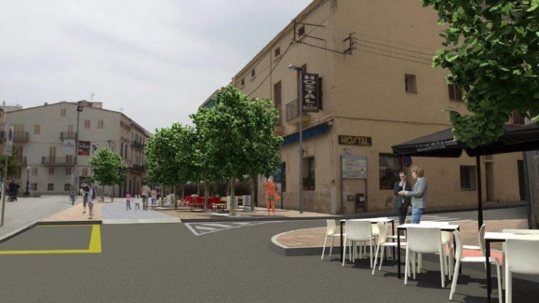L'actuació deixarà un carrer de Pere Badia totalment renovat