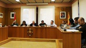 Moreno, a la dreta, és l'únic regidor de Ciutadans a l'Ajuntament d'Altafulla