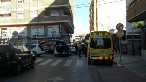 Imatge de l'accident a Torredembarra.