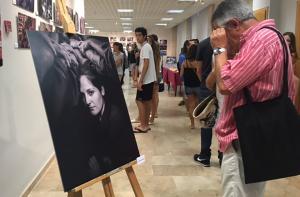 Imatge de la inauguració de la mostra.