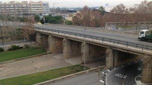 Imatge del pont de l'N-340 de Cambrils