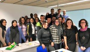 Imatge dels participants del curs inicial de català