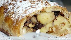 Strudel de poma i fruits secs