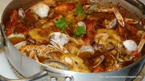 Sarsuela de peix i marisc amb suquet