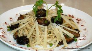 Tallarines amb shiitake