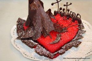 "Pastís ""Cor vermell de Sant Valentí"""