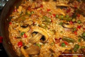 Arròs de carn i verdura