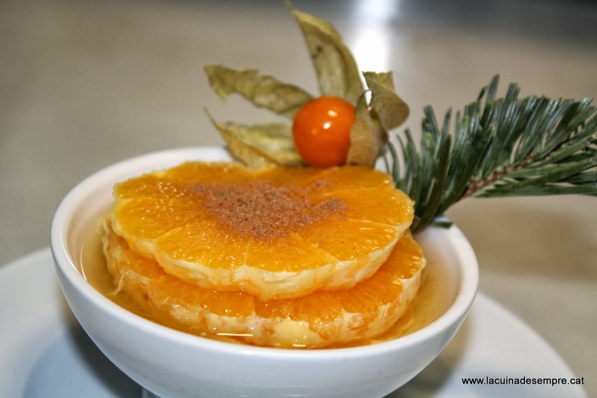 Taronja amb moscatell