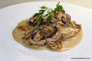 Filet de porc amb xampinyons (Carn blanca)