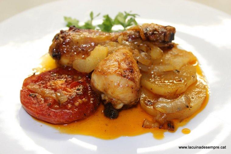 Cuixetes de pollastre al forn amb vermut