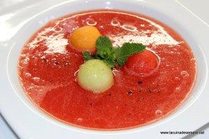 Sopa freda de síndria i gingebre