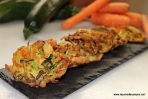 Truitetes de pastanaga i carbassó