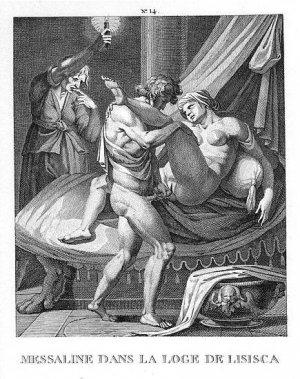 Imatge d'una il·lustració d'una edició francesa del llibre italià I Modi, feta al segle XVIII