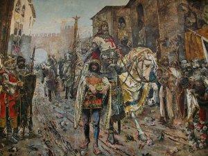 Entrada triomfal del rei Jaume I a la ciutat de València (1884), Fernando Richart Montesinos