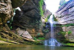 La roca foradada des de Cantonigrós