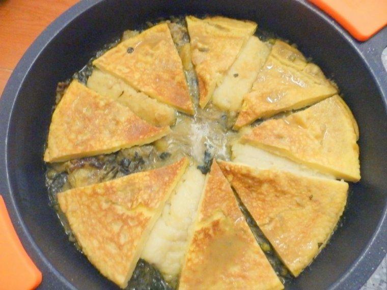 Bacallà amb truita de farina