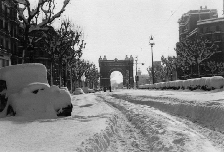 Barcelona nevada