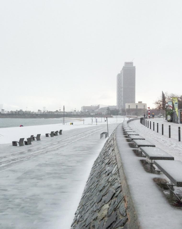 Neu a la Barceloneta