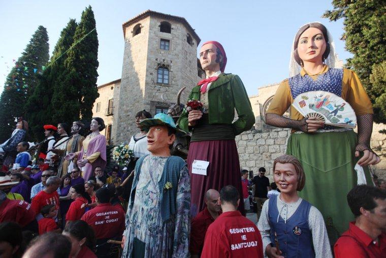 Trobada gegantera a Sant Cugat del Vallès