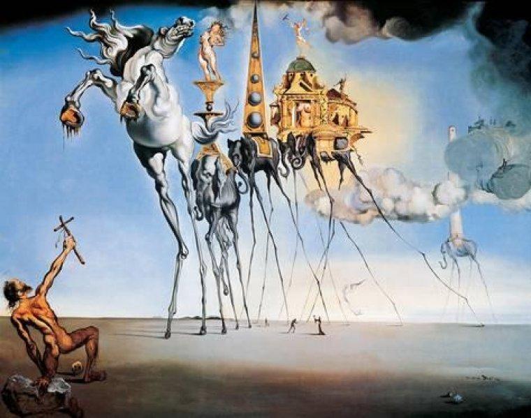 Una de les obres de Dalí
