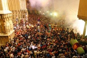Moment de la celebració de Santa Tecla