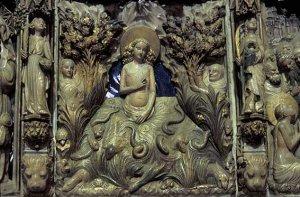 Retaule en honor a la santa de la catedral de Tarragona
