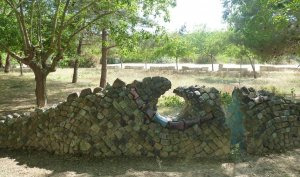 Una de les escultures a Vespella de Gaià