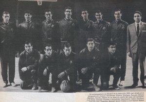 Josep Maria Jofresa amb la selecció l'any 162